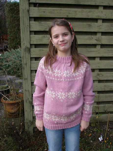 Katrine i stjernesweater
