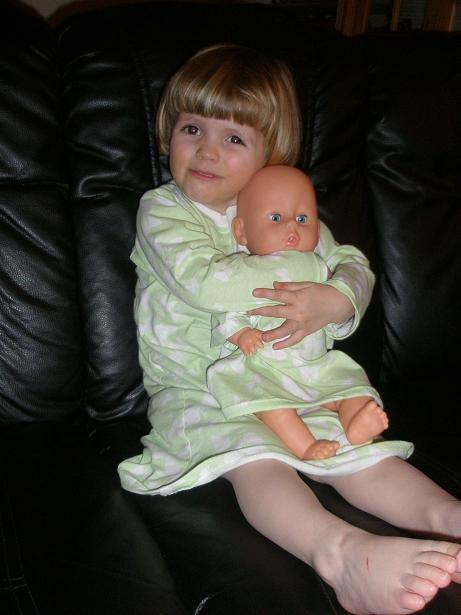 Sofie og dukke